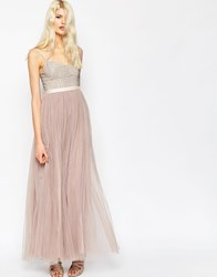 Needle And Thread Coppelia Embellished Ballet Tulle Maxi Dress Dust Lilac
