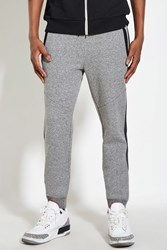 Forever 21 Marled Knit Joggers Heather Grey Black