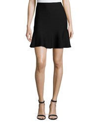 Grey By Jason Wu Ponte Fit And Flare Mini Skirt Black