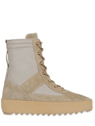 Yeezy 40Mm Military Suede And Nylon Boots