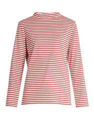 Mih Jeans Emelie Striped T Shirt Red White