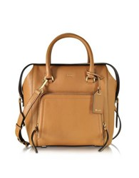 Dkny Chelsea Vintage Style Copper Leather North South Satchel Bag
