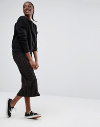 Monki Knit Tube Skirt Black