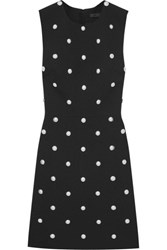 Alexander Wang Studded Crepe Mini Dress Black