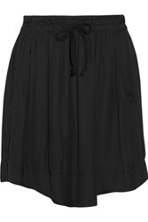 Etoile Isabel Marant Brick Voile Mini Skirt Black