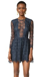 Michelle Mason Lace Mini Dress Carbon
