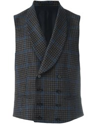 Z Zegna Double Breasted Waistcoat Brown