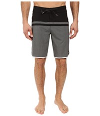 Quiksilver Stomp Remix Scallop 20 Boardshorts Quiet Shade Men's Swimwear Gray