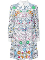 Barbara Bui Geometric Print Shirt Dress Multicolour