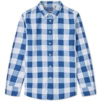 Blue Blue Japan Button Down Traditional Check Shirt Blue
