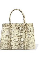 Tory Burch Serina Large Snake Print Leather Tote Animal Print