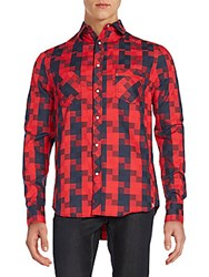 Sovereign Code Carlisle Geometric Print Sportshirt Red