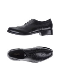 Pollini Footwear Lace Up Shoes Men Black