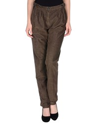 M.Grifoni Denim Trousers Casual Trousers Women Beige