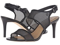 Michael Michael Kors Leilah Sandal Black Mesh Vachetta Women's Dress Sandals