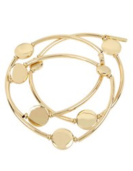 Kenneth Cole Circle Stretch Gold Bracelet Set Set Of 3