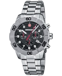 Wenger Men's Swiss Chronograph Roadster Stainless Steel Bracelet Watch 45Mm 01.0853.102