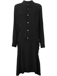 Yohji Yamamoto Vintage Cut Out Shirt Dress Black