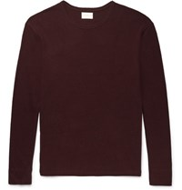 Simon Miller Slub Cotton And Silk Blend T Shirt Burgundy