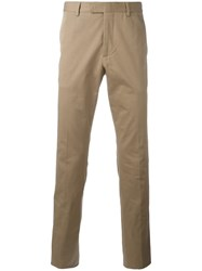 Gucci Stretch Gabardine Chino Trousers Brown