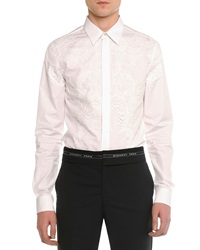 Givenchy Lace Front Poplin Shirt White