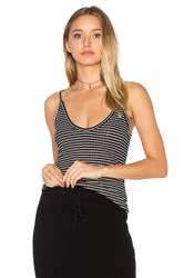 Lna Cami Tank Black And White