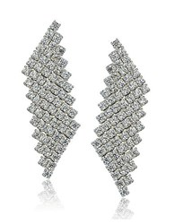 Lord And Taylor Sterling Silver Cubic Zirconia Mesh Drop Earrings