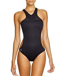 Polo Ralph Lauren Bonded High Neck One Piece Swimsuit