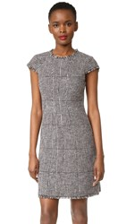 Rebecca Taylor Sleeveless Houndstooth Dress Teaberry Combo