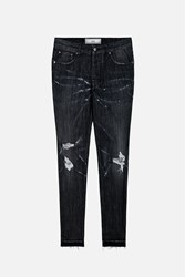 Ami Alexandre Mattiussi Distressed Carrot Fit Jeans Black