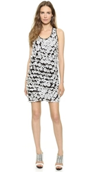Tess Giberson Lasercut Floral Dress Speckled White Floral