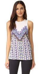 Mara Hoffman Tank Top Purple Multi