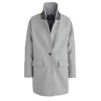 J.Crew Wool Melton Boyfriend Coat Hthr Graphite