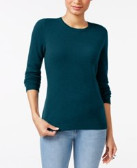 Charter Club Cashmere Crew Neck Sweater Only At Macy's 18 Colors Available Twilight Teal
