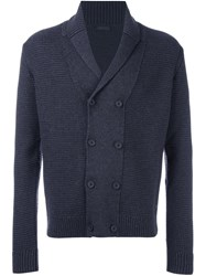 Z Zegna Double Breasted Cardigan Grey