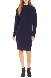 Women's Bp. Mock Neck Knit Sweater Dress Navy Evening