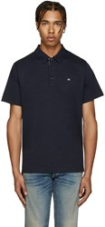 Rag And Bone Navy Standard Issue Polo