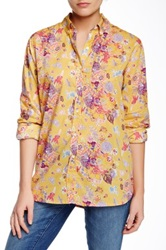 Trovata Classic Printed Blouse Yellow