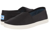 Toms Avalon Sneaker Black Coated Canvas Women's Slip On Shoes
