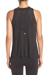 Alo Yoga Women's 'Crest' Mock Neck Lace Inset Tank