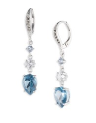 Judith Jack Cubic Zirconia Marcasite Spinnel And Sterling Silver Drop Earrings