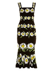 Dolce And Gabbana Margherite Daisy Print Charmeuse Dress