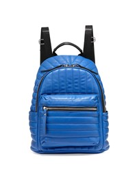 Neiman Marcus Linear Quilted Backpack Cobalt