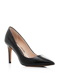 French Connection Rosalie Leather Pointed Toe Pumps Black