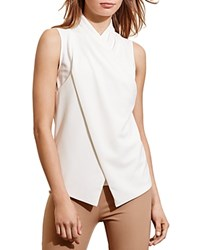Ralph Lauren Faux Wrap Sleeveless Top French Cream