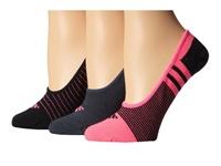 Adidas Superlite 3 Pair Ped Solar Pink Black Bold Onix Women's No Show Socks Shoes Multi