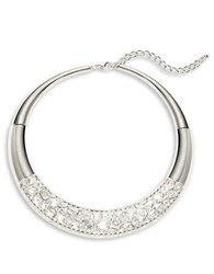 Catherine Stein Pave Collar Necklace Silver