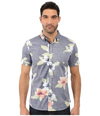 7 Diamonds Great Summer Short Sleeve Shirt Navy Men's Short Sleeve Button Up