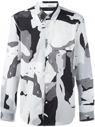 Etudes Abstract Print Shirt Grey