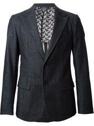 Dolce And Gabbana Denim Style Blazer Blue